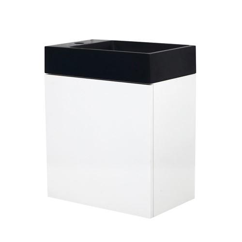 Meuble lave-mains à suspendre design Java - L. 40 x H. 48 cm - Blanc