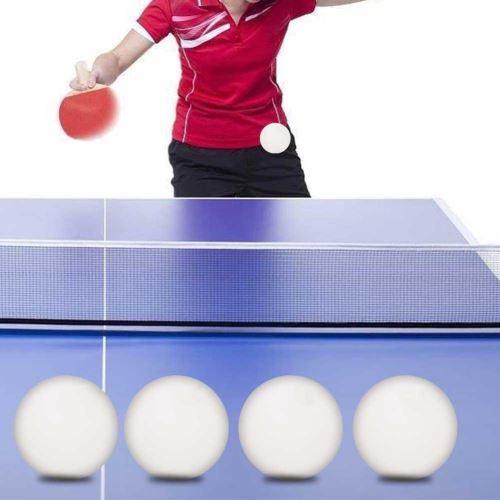 20 Sur Balle De Tennis De Table Lot De 6 Durable Abs Pratique Entrainement Exercice Blanc Balles Achat Prix Fnac