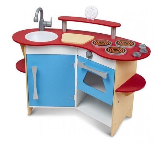 Melissa & Doug coin cuisine en bois 93 x 42 x 66 bleu / rouge