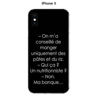 coque iphone x texte
