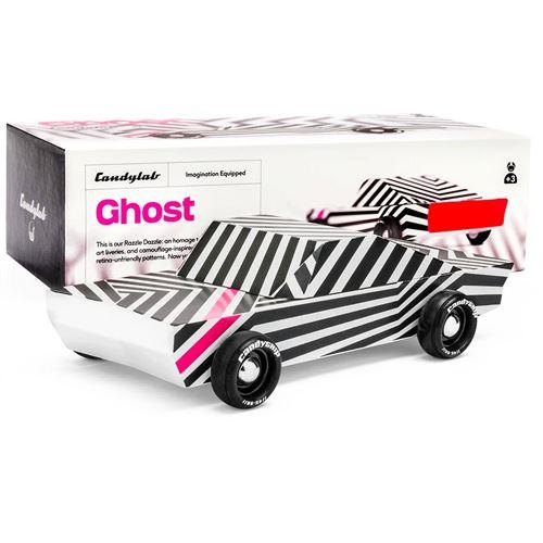 Petites voitures et mini modèles rétro classiques en bois Candylab Americana Véhicules design pour enfants et adultes - Ghost M0402