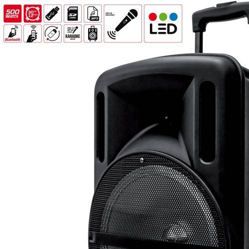 C/âble PC OFFERT Enceinte Mobile Batterie SONO DJ MyDj DJOON 12 500W /à LED RVB Party Karaok/é Micro