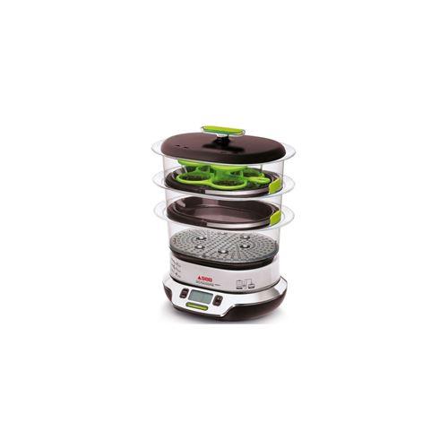 noir//chrome SEB Cuiseur vapeur Vitacuisine Compact VS404300