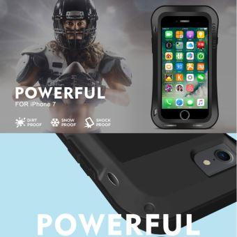 86fa89d59bb231 Coque renforcée pour iphone 7 tour taille triobump professionnel et  puissant anti-poussière anti-dérapant étui protection en métal blanc love  mei - Etui ...