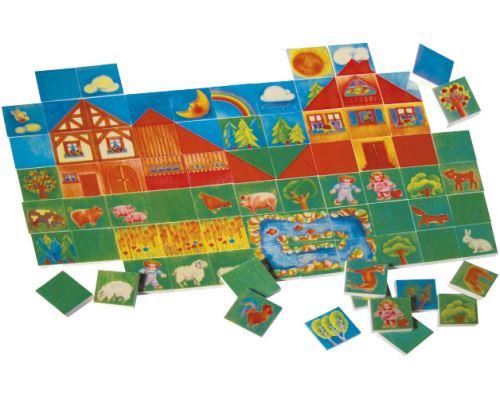 Selecta Spielzeug puzzle Ferme junior bois 80 pièces