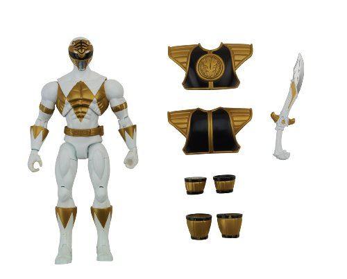 Power Rangers Super Megaforce - Figurine d'action Ranger Blanc Mighty Morphin blindée