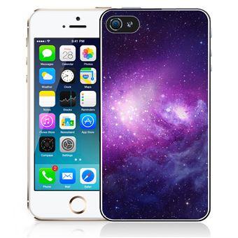 Coque pour iPhone 5 5S galaxie violet