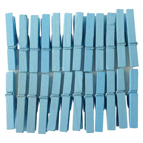 pw international - lot 24 pinces a linge bleu