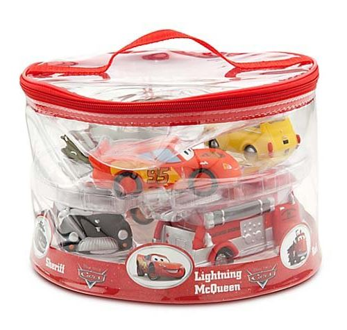 Disney Parks Exclusive Deluxe Cars 6 Piece Squeeze Toy Set