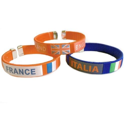 Bracelet Pays Supporter Foot France Italie Angleterre Ambiance