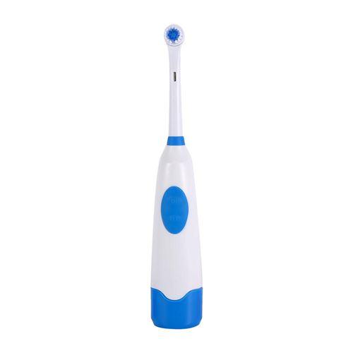 Brosse à dent électrique rotative avec 1 têtes de brosse à dent Bleu