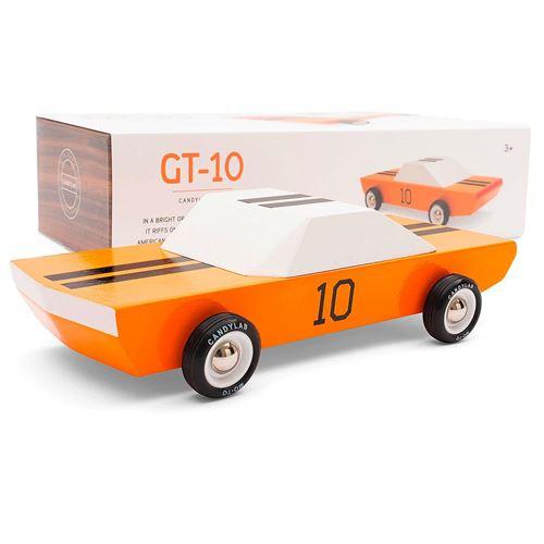 Petites voitures et mini modèles rétro classiques en bois Candylab Junior Véhicules design pour enfants et adultes - The GT 10