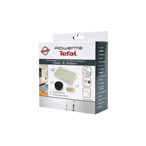 Kit d'entretien filtre mousse + 2 lingettes microfibres + cartouche anti-calcaire pour aspirateurs clean & steam rowenta - h411892