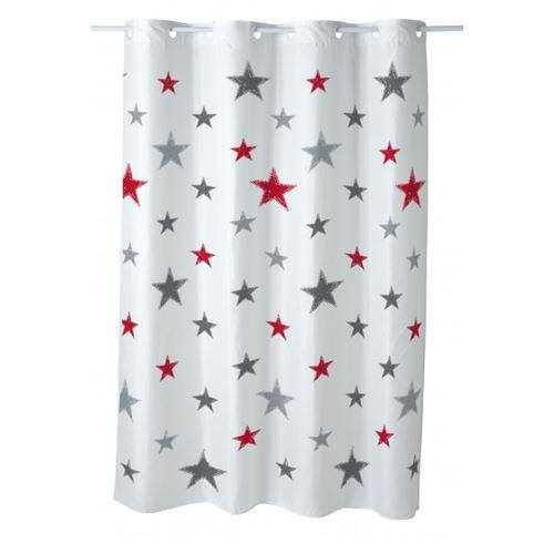 Rideau de douche imprimé 180x200cm Stars