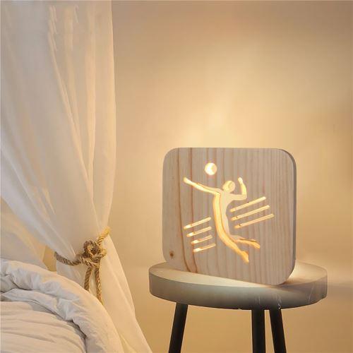 Creative Craft Décoration Lampe en bois Led Lumière Veilleuse Lampe de table_onaeatza453
