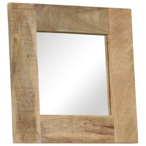 Miroir Mural Miroirs en verre + bois massif Miroir Décoration pour Salon miroir Salle de Bains Wodden miroirs 50 x 50 cm