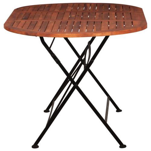 Table De Jardin 160 X 85 X 74 Cm Bois D Acacia Massif Ovale
