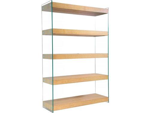bibliothèque corleone - 120 x 40 x 180 cm - finition chêne