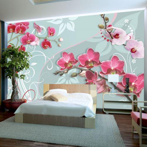 Papier peint - Pink orchids - variation II - Décoration, image, art | Fleurs | Orchidées |