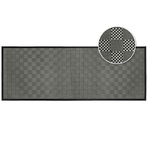 Tapis rectangle 45 x 120 cm pvc tisse simeo Noir