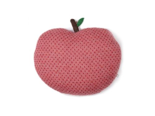 Oeuf Baby Clothes - Coussin pomme rouge et rose alpaga