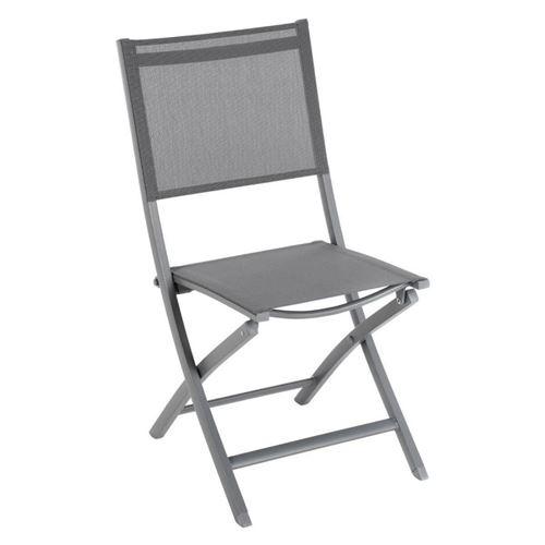 Chaise de jardin Essentia coloris gris ardoise Hespéride