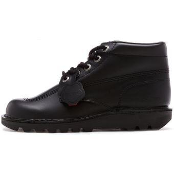 Kickers Kick Hi Core cuir Ankle bottes en Noir 1KF0000101BTW [UK 7 EU 41]