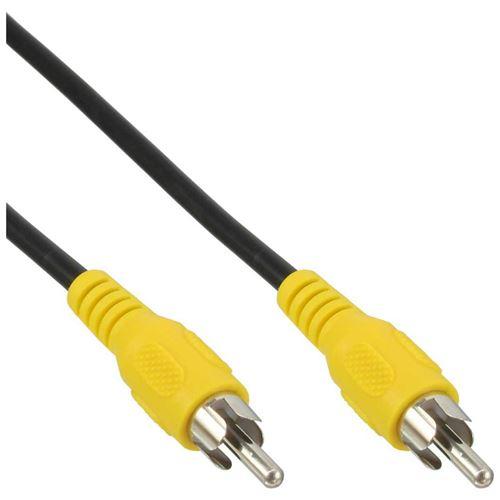 Câble Cinch, InLine®, vidéo, 1x Cinch mâle/mâle 5m, couleur de prise jaune