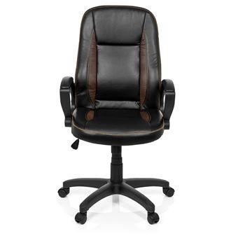 OFFICE simili de de cuir VINTAGE Chaise hjh bureau Fauteuil direction marron foncé f76gbyY