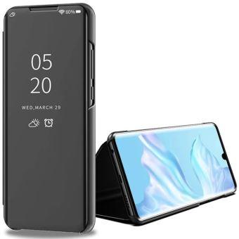 Fezzor® Samsung Galaxy S9 Plus, Coque Etui Flip Cover Effet Miroir Noir