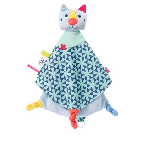 Fehn couverture câline Color Friendschat junior 35 cm en peluche