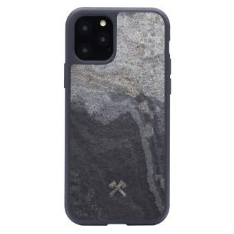Coque pour iPhone 11 Pro en Ardoise Veritable Gris Granit Woodceories EcoBump