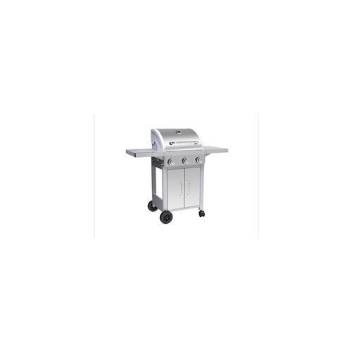 SYLVER STYLE Barbecue a gaz 3 bruleurs en inox - 3000 W