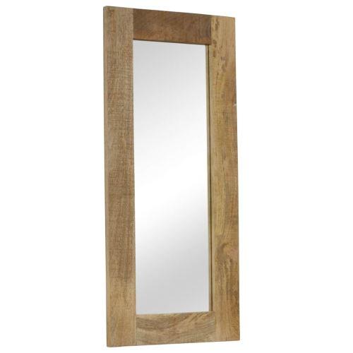 Miroir Mural Miroirs en verre + bois massif Miroir Décoration pour Salon miroir Salle de Bains Wodden miroirs 50 x 110 cm