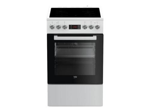 Beko FSE57302GWC - Cuisinière - pose libre - largeur : 50 cm - profondeur : 60 cm - hauteur : 85 cm - avec système auto-nettoyant - classe A - blanc