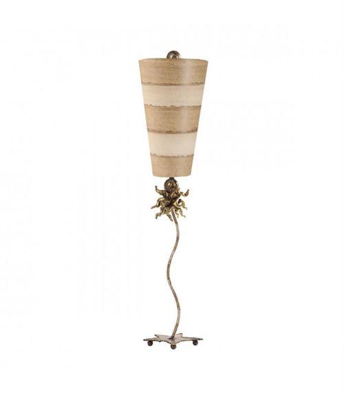 Lampe anemone, taupe et crème