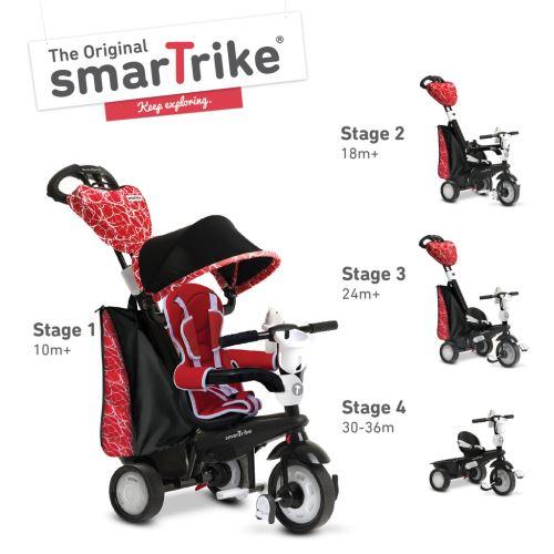 Smart Trike smarTrike 4 en 1 Chic rouge tricycle pour les tout-petits