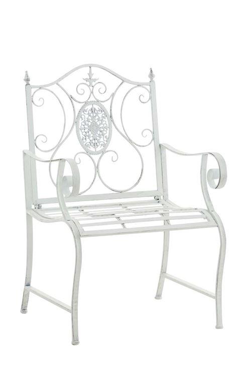 Chaise en fer forgé Punjab , Blanc antique
