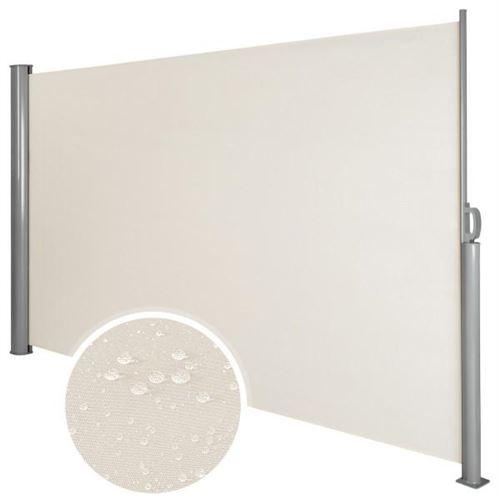 Auvent store latéral brise-vue abri soleil aluminium rétractable 180 x 300 cm beige
