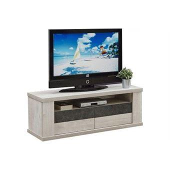 Meuble Tv Moderne 138 Cm à 2 Portes Coloris Chêne Andes Achat