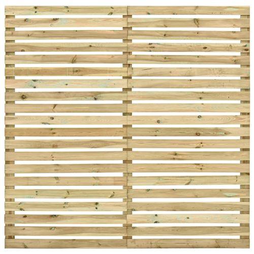 Panneau de clôture d'extérieur Bois de pin imprégné 180 x 180 cm