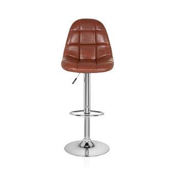 Chaise de bar tabouret de comptoir LOUNGER II (lot de 2 2 tabourets) marron hjh OFFICE