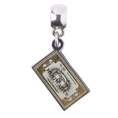 Officiellement sous licence Harry Potter argent plaqué Poudlard Express Ticket Slider Charm