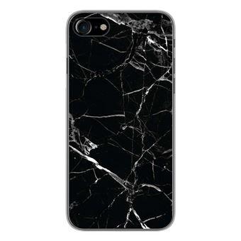 Coque silicone gel Apple IPhone 7 motif Marbre Noir