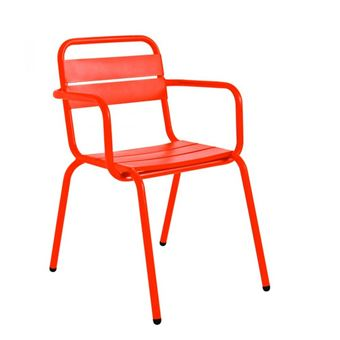 Fauteuil de jardin design métal Visalia - Couleur - Orange ...