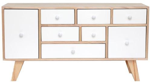 Sil - Petit meuble en bois 8 tiroirs
