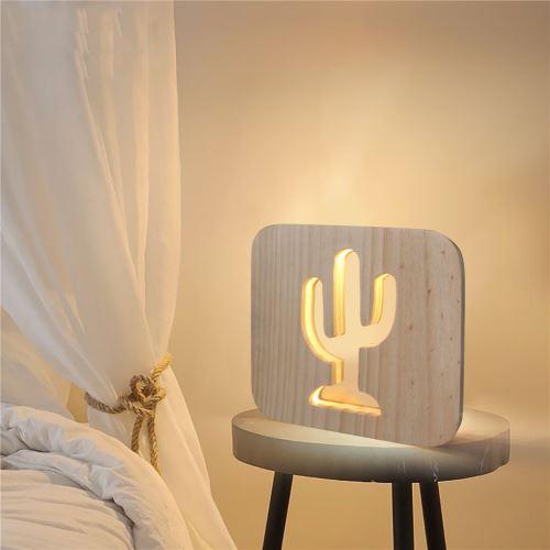 Creative Craft Décoration Lampe en bois Led Lumière Veilleuse Lampe de table_onaeatza458