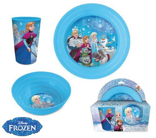 La Reine des Neiges Vaisselle en plastique 3 pièces