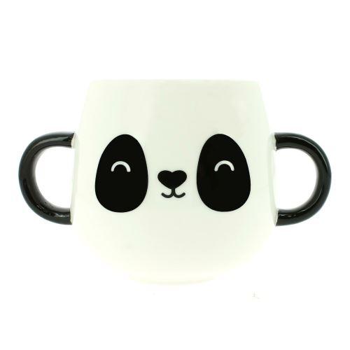 Tasse de panda accrochant juste de zoo heureux