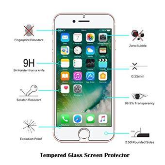 Coque iPhone 6 Coque iPhone 6S avec Verre Trempe Etui Telephone en Silicone Souple Cute Serie de Chat Transparent pour iPhone 6 6S